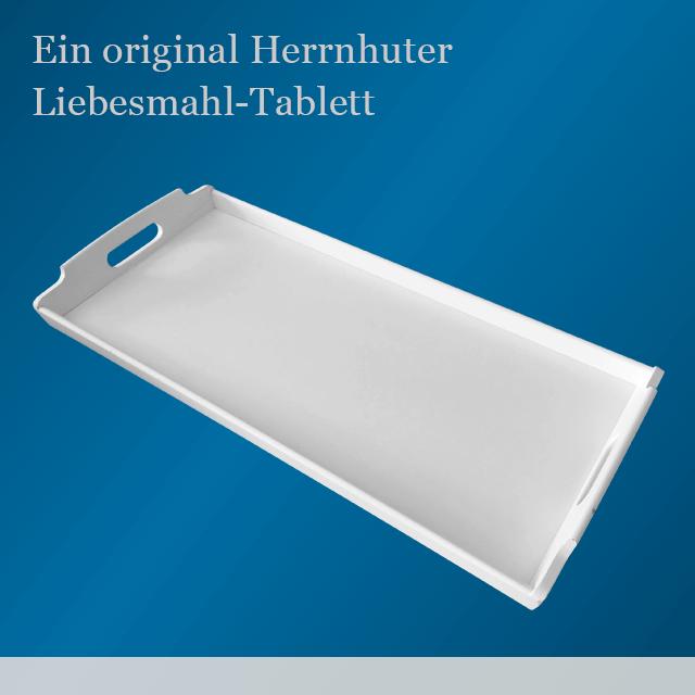 Typisches Herrnhuter Tablett
